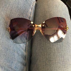 NWOT Tory Burch purple fade butterfly sunglasses